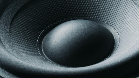 Bass speaker membrane vibration Live Action