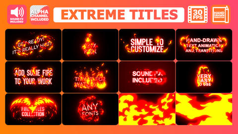 Extreme Titles Motion Graphics Template