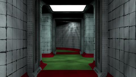 Abandoned Fallout Shelter Corridor 1 Animation