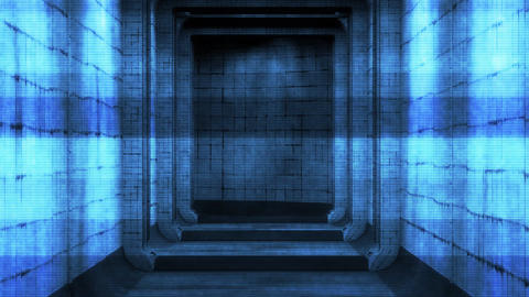 Scary Holographic Hospital Corridor 5 Animation