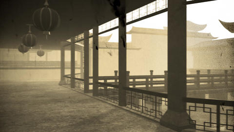 Chinese Inner Courtyard Vintage 1 Animation