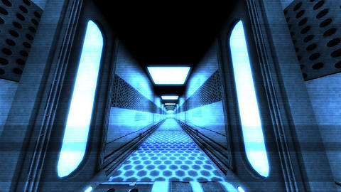 Futuristic Science Fiction Corridor 4 Animation