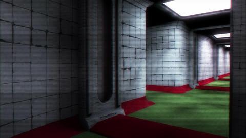 Scary Holographic Hospital Corridor 8 Animation