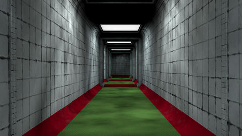 Scary Labyrinth Maze Underground Corridor 1 Animation