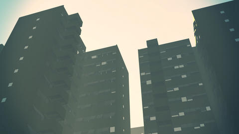 Overpopulated Smoggy City Building Blocks 1 Animation