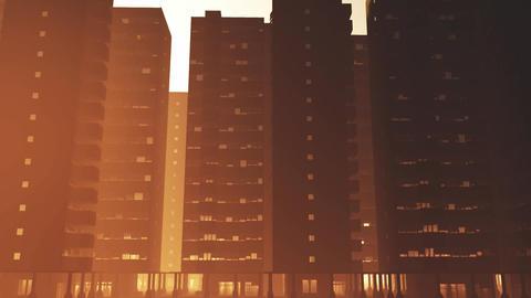 Overpopulated Utopistic City Block Buildings 1 Animation