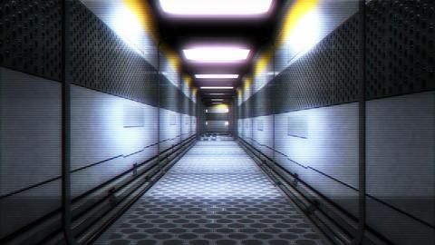 Sci-Fi Futuristic Corridor Holographic Design 1 Animation