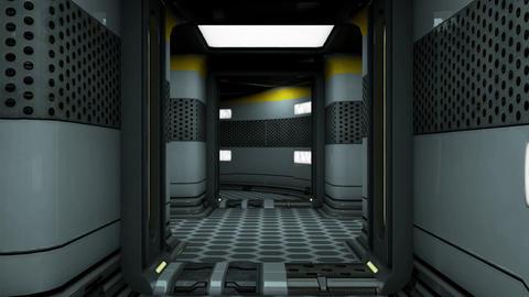 Sci-Fi Space Station Futuristic Corridor 3D Animation 4 Animation