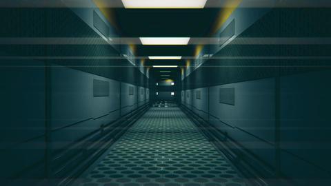 Sci-Fi Space Station Futuristic Corridor 3D Animation 2 Animation