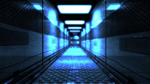 Futuristic Science Fiction Corridor 5 Animation