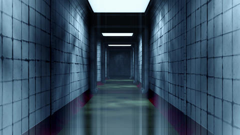 Freaky Mental Asylum Corridor Chaos Loop Animation