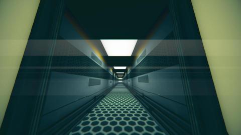 Futuristic Science Fiction Corridor 2 Animation