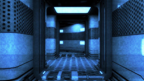 Futuristic Science Fiction Corridor 6 Animation