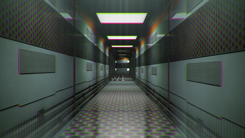 Sci-Fi Space Station Futuristic Corridor Chaos Loop 1 Animation
