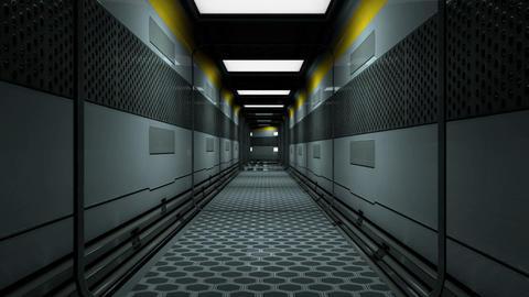 Sci-Fi Space Station Futuristic Corridor 3D Animation 1 Animation