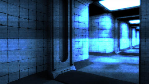 Scary Holographic Hospital Corridor 7 Animation