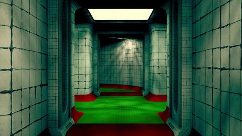 Abandoned Fallout Shelter Corridor 3 Animation