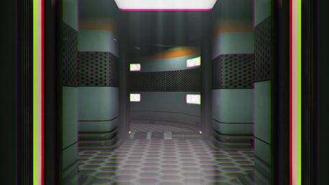 Sci-Fi Space Station Futuristic Corridor Chaos Loop 2 Animation