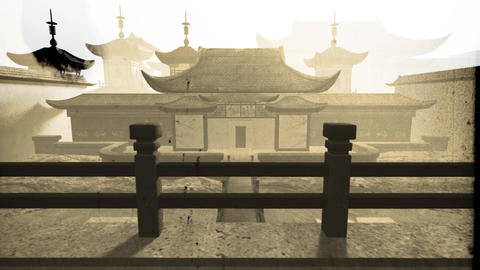 Chinese Inner Courtyard Vintage 6 Animation