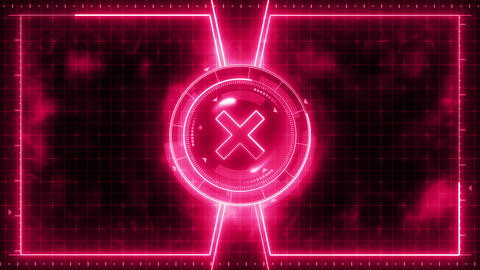 Futuristic sports game loop animation. Versus fight background. Radar neon digital display. X target Videos animados