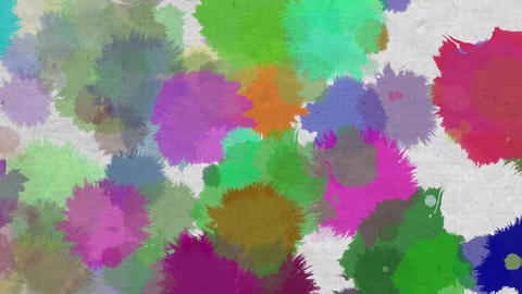 paint bleeding _ color_ Japanese paper background 1 Animation