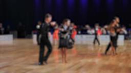 People dancing latin dances.Ballroom dancing Stock Video Footage