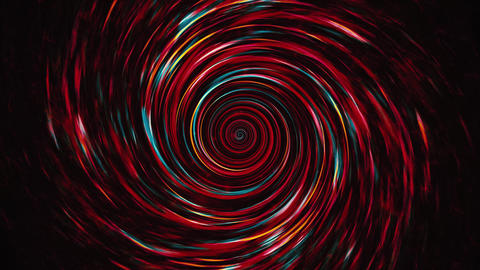 Fast Rotating Red Spiral Vortex Animation