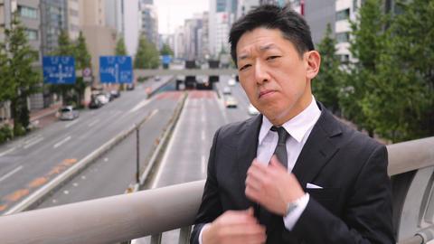 Portrait of a Japanese Businessman in Tokyo Japan Live Action