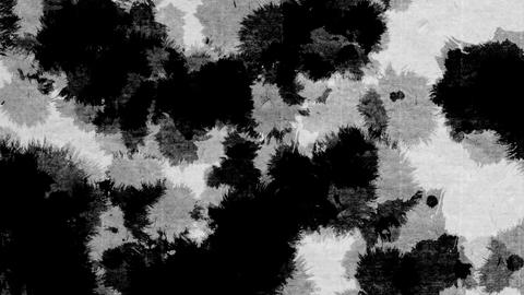paint bleeding _ black_ Japanese paper background CG動画