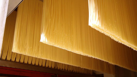 Pasta factory and pasta production stages Footage
