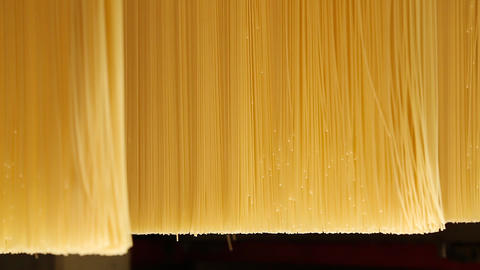 Spaghetti production line Footage