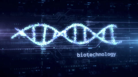 Biotechnology and DNA helix hologram Videos animados