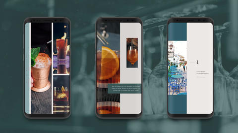 Instagram Stories: Cocktail Bar After Effects Template