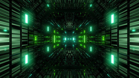textured scifi glitter tunnel corridor wallpaper background 3d illustration vj Animation