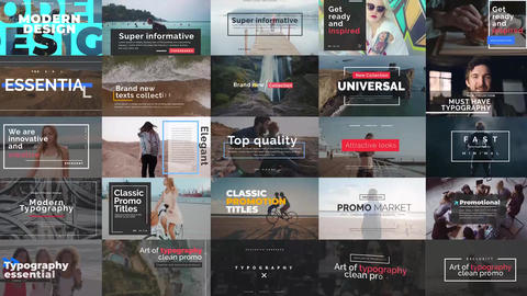 Essential Titles V 2 After Effects Template