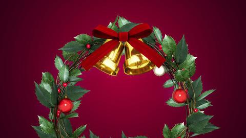 christmas wreath _ magenta background Animation