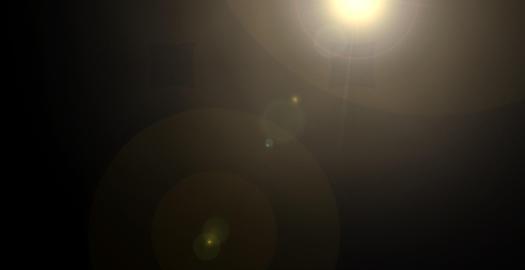 Warm Moving Lens Flare Light Animation