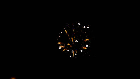 Beautiful colorful holiday fireworks in the evening with majestic long exposure Footage