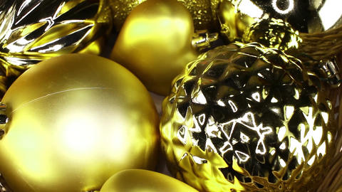 Christmas ornaments ball sphere shiny bauble baubles balls Close up Texture Live Action