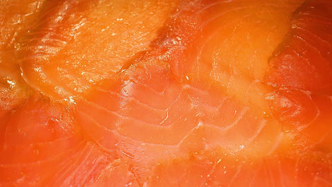 Salmon fillet close up stock video footage Live Action