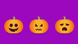 Halloween Pumpkins Lights. 2d animation Animation