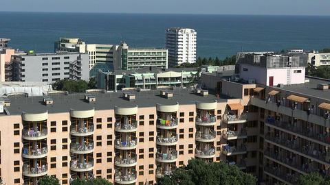Golden Sands resort in Varna. Bulgaria Footage
