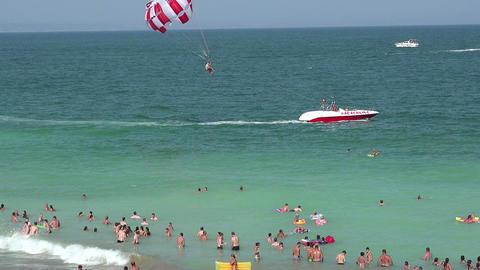 Golden Sands beach (Zlatni Piasci) in Bulgaria Footage