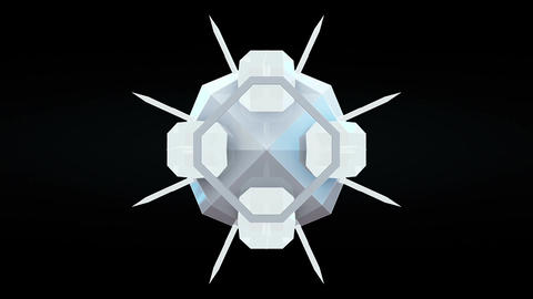 Abstract 3D geometric polygon particle shape explosion seamless loop Animation