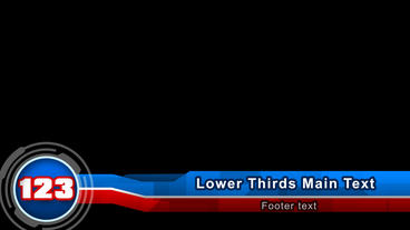 Lower Thirds: Blu & Red After Effects Project