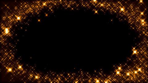 キラキラ背景素材 ループ loop BG オレンジ Animation