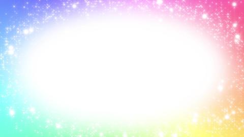 キラキラ背景素材 ループ loop BG rainbow Animation