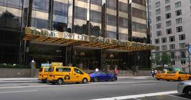 Day Establishing Shot Trump International Hotel in New York City Footage