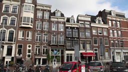 Typical buildings from amsterdam Footage