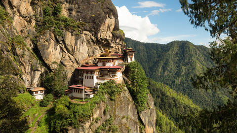 Time Lapse Of The Tiger's Nest In Bhutan Live Action